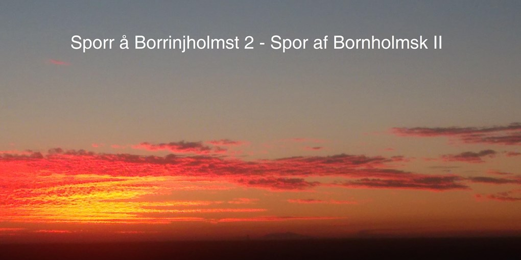 Sporr å borrinjholmsk 2 / Tracking the Bornholm language II